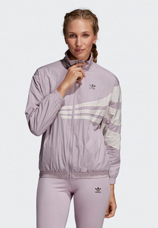 женская ветровка adidas, фиолетовая