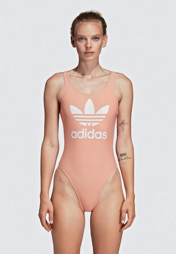 женский купальник adidas, розовый
