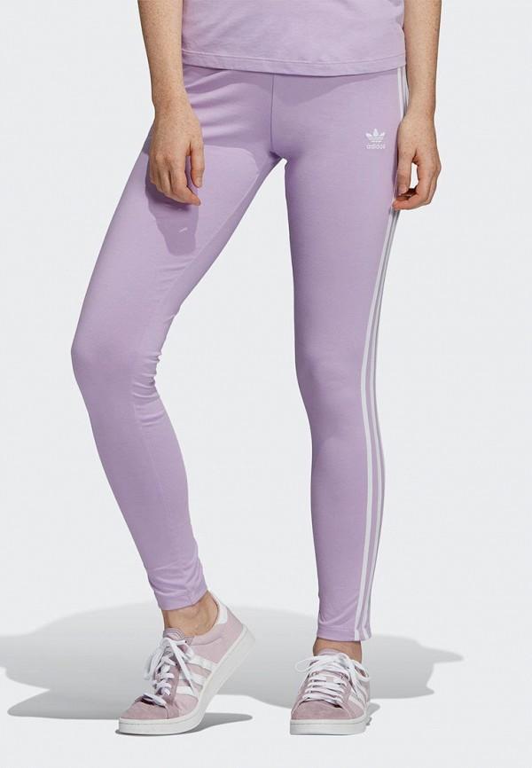 женские спортивные леггинсы adidas, фиолетовые