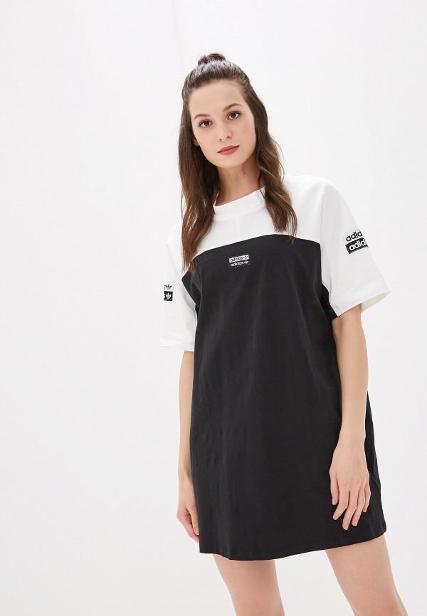 Платье adidas Originals adidas Originals AD093EWFKPS0 adidas originals by hyke платье до колена