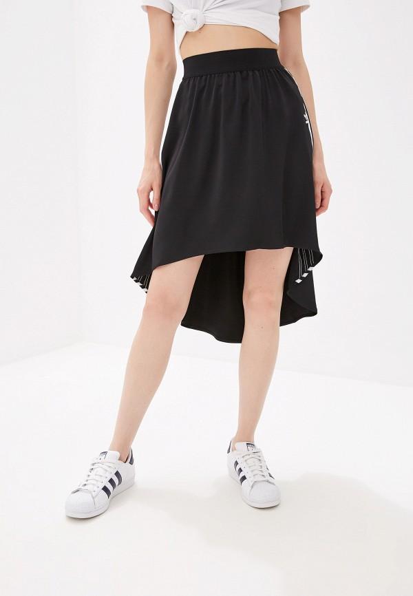Купить женскую юбку adidas Originals черного цвета