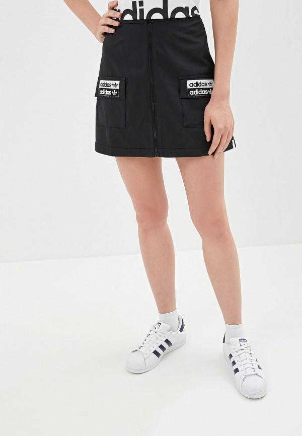 Юбка adidas Originals adidas Originals AD093EWFKPT8 adidas originals юбка до колена