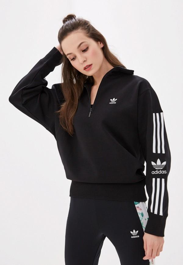 женская олимпийка adidas, черная