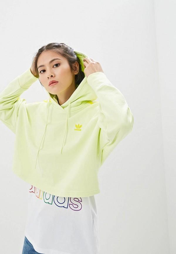 женские худи adidas, желтые