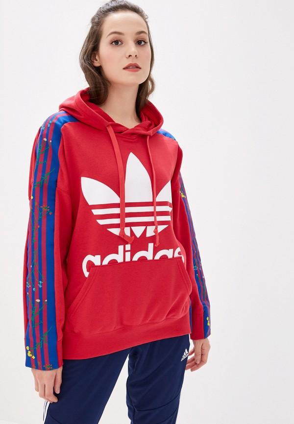 Худи adidas Originals adidas Originals AD093EWFKPW2 adidas originals hamburg ice blue off white