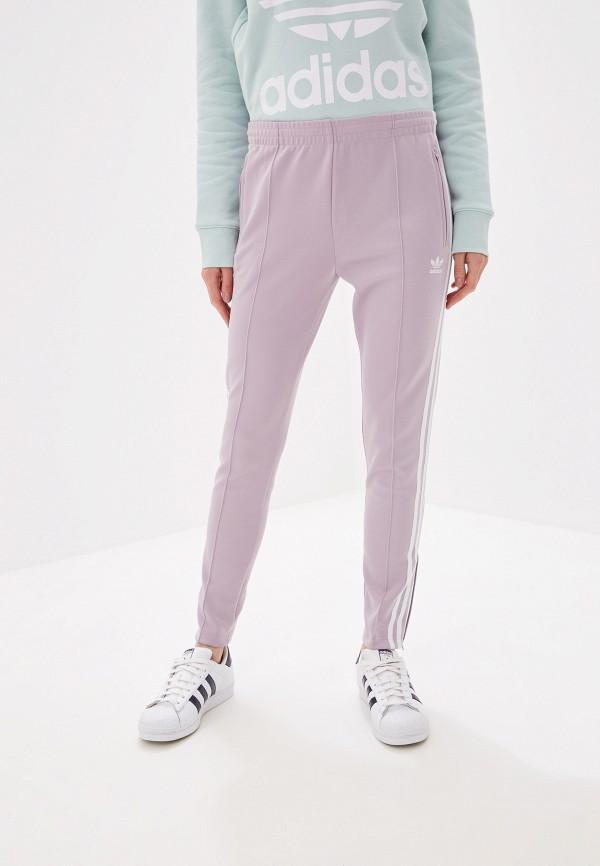 Купить Брюки спортивные adidas Originals фиолетового цвета