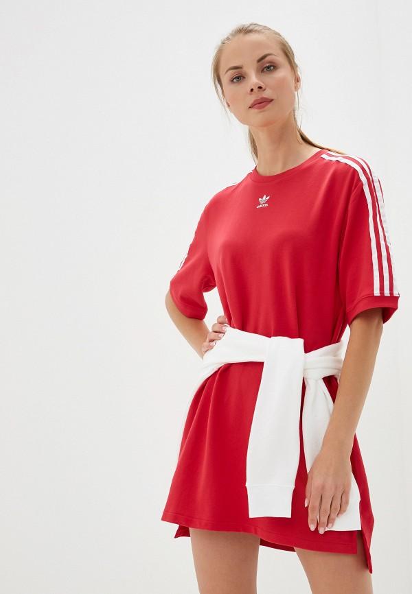 Купить женское платье adidas Originals красного цвета