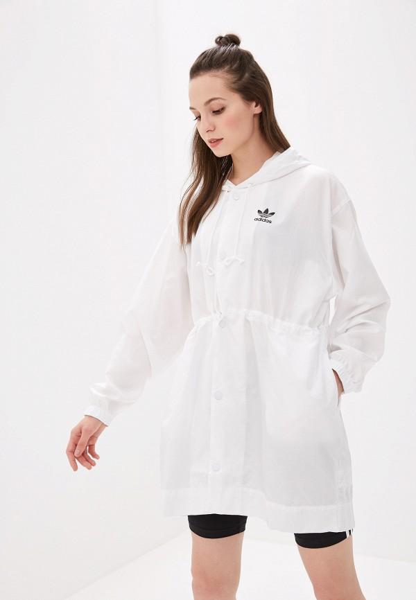 Купить Ветровка adidas Originals белого цвета