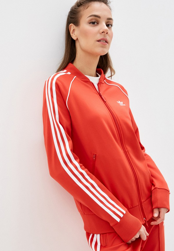 женская спортивные олимпийка adidas, красная