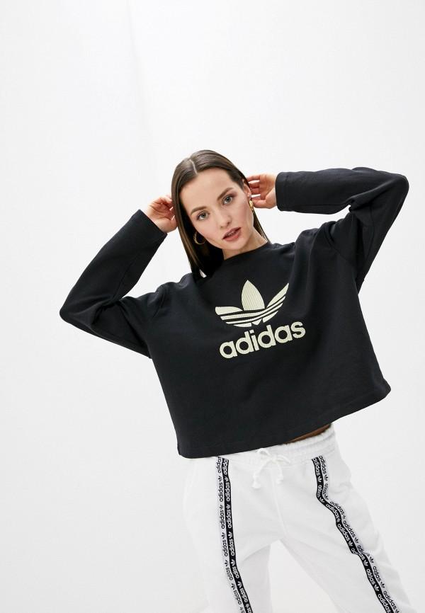 женский спортивные свитшот adidas, черный