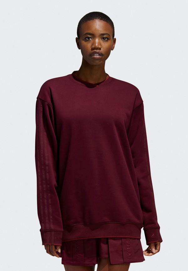 женский свитшот adidas, бордовый