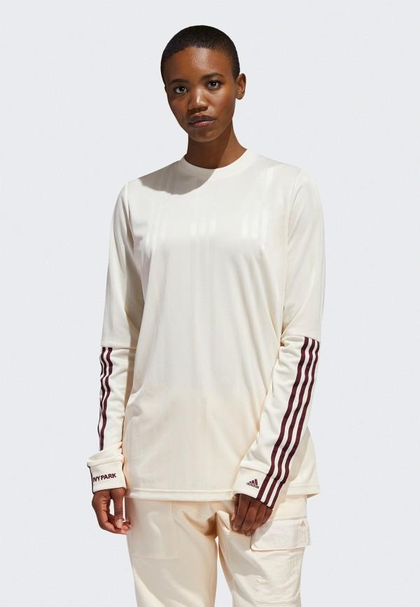 женский лонгслив adidas, бежевый