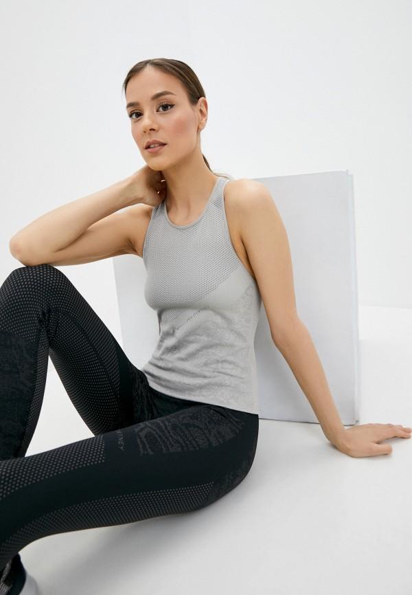 женская майка adidas by stella mccartney, бежевая