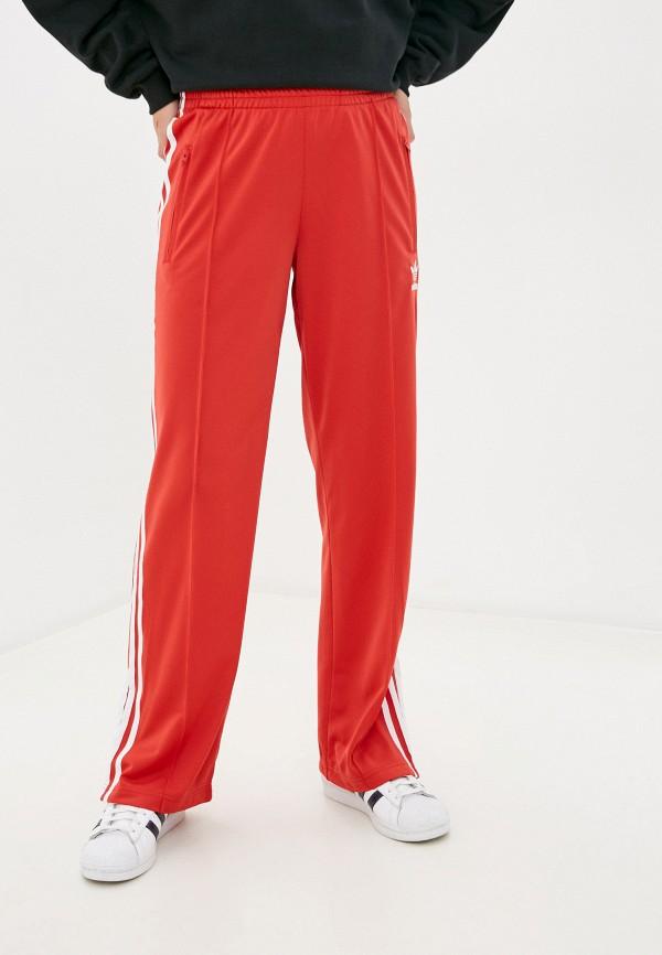 женские спортивные брюки adidas, красные