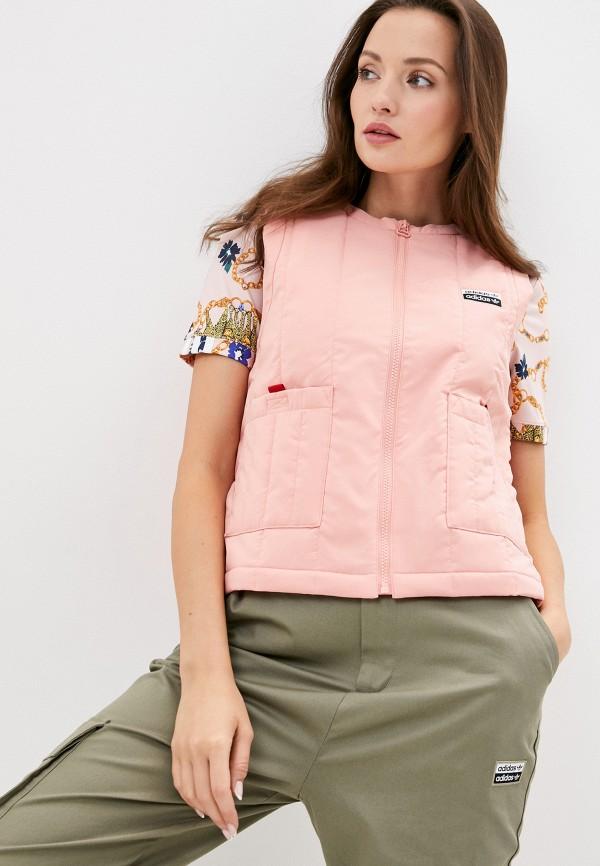 женский жилет adidas, розовый