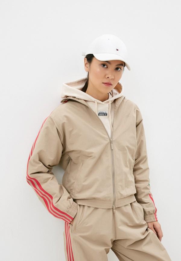 женская олимпийка adidas, бежевая