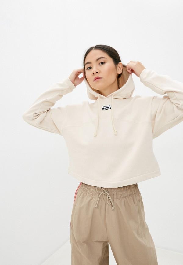 женские худи adidas, бежевые