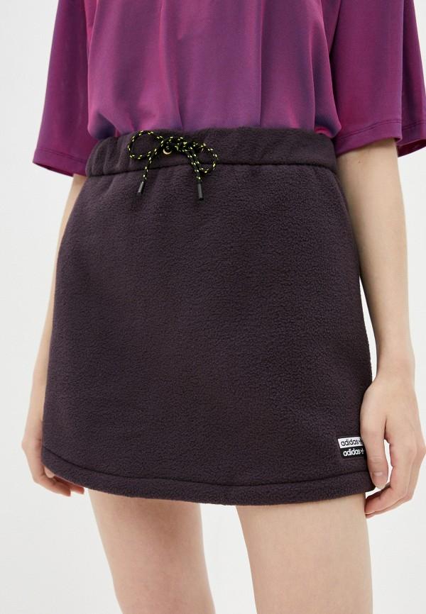 женская прямые юбка adidas, фиолетовая