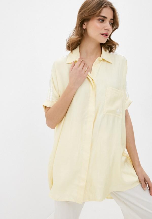 женское платье-рубашки adidas, желтое