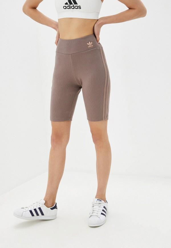 женские повседневные шорты adidas, коричневые