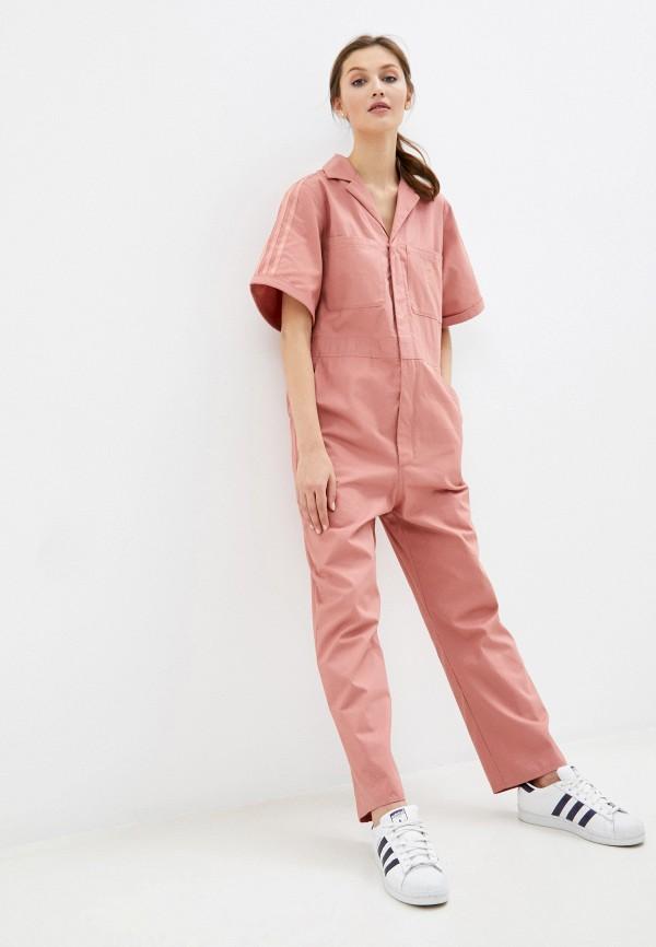 женский спортивные комбинезон adidas, розовый