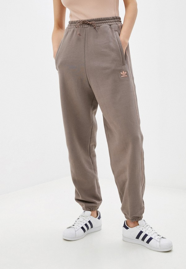 женские спортивные брюки adidas, коричневые