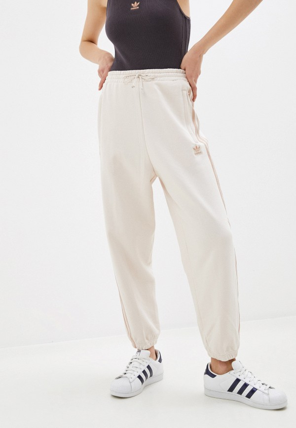 женские спортивные брюки adidas, бежевые