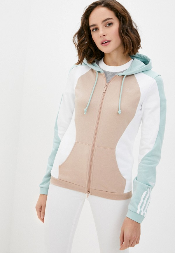 женская толстовка adidas, разноцветная