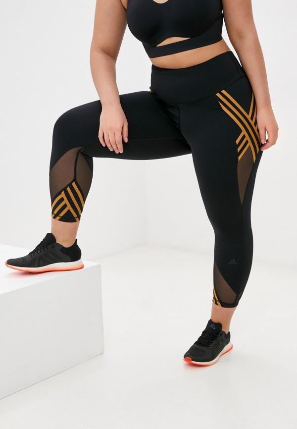 женские спортивные леггинсы adidas, черные