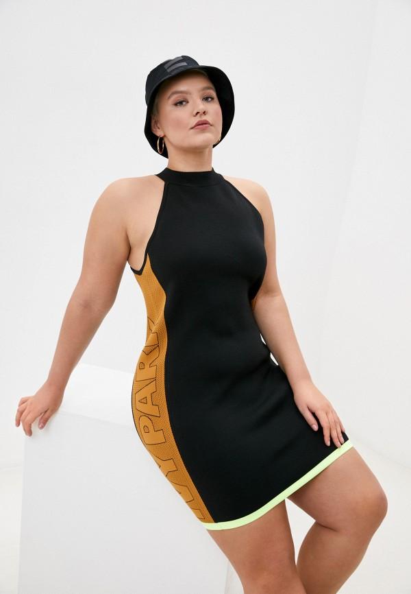 женское спортивные платье adidas, черное