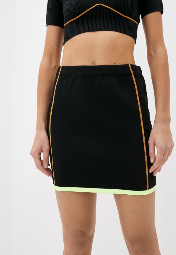 женская спортивные юбка adidas, черная