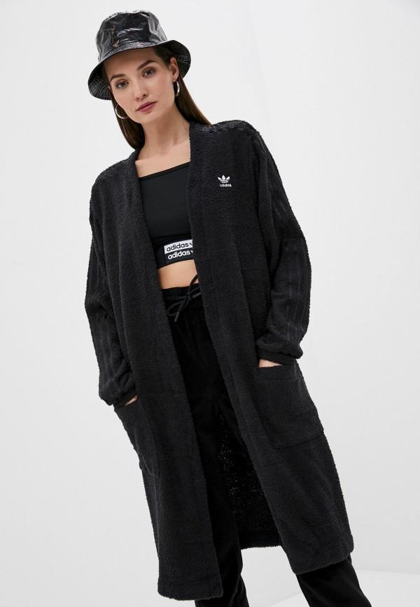 женский кардиган adidas, черный
