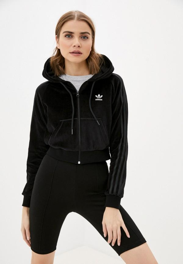 женская толстовка adidas, черная