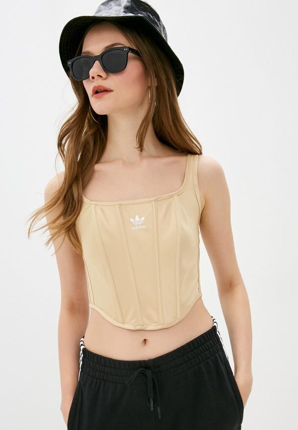 женский корсет adidas, золотой