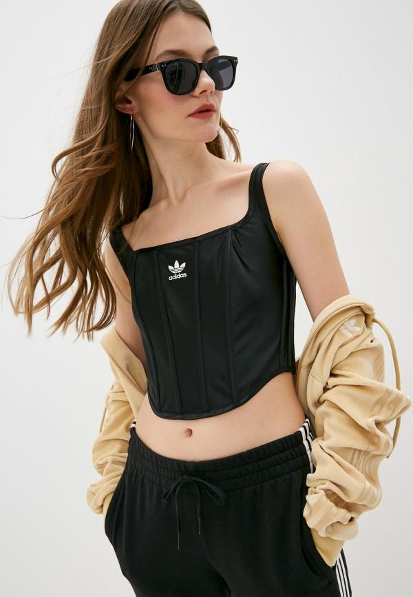 женский корсет adidas, черный