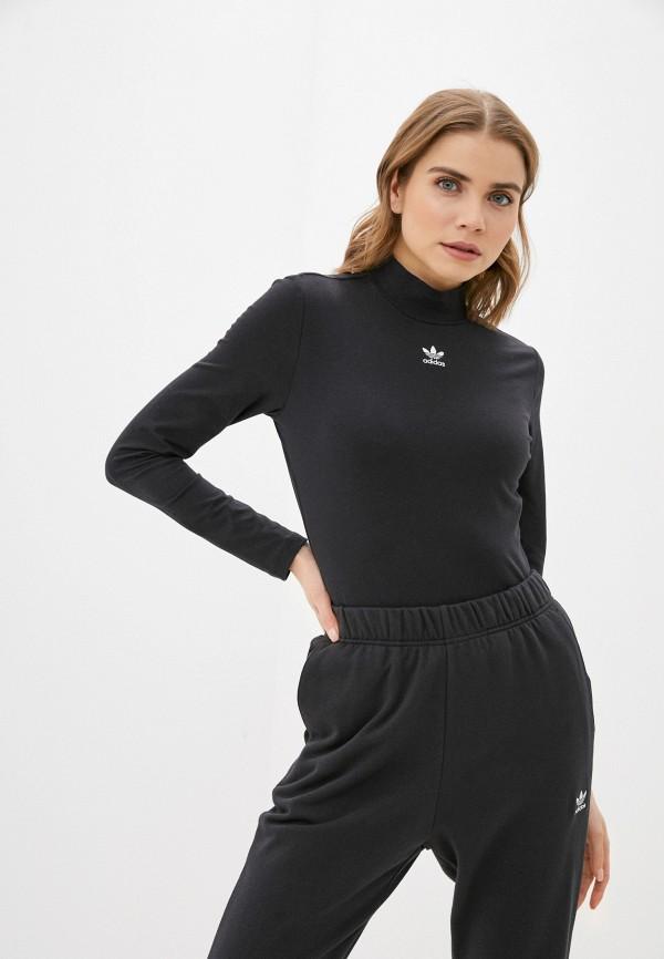 женская водолазка adidas, черная