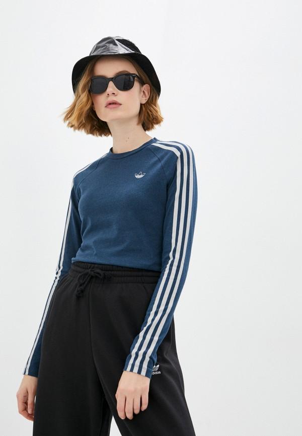 Лонгслив adidas Originals adidas Originals GN4381 синий фото