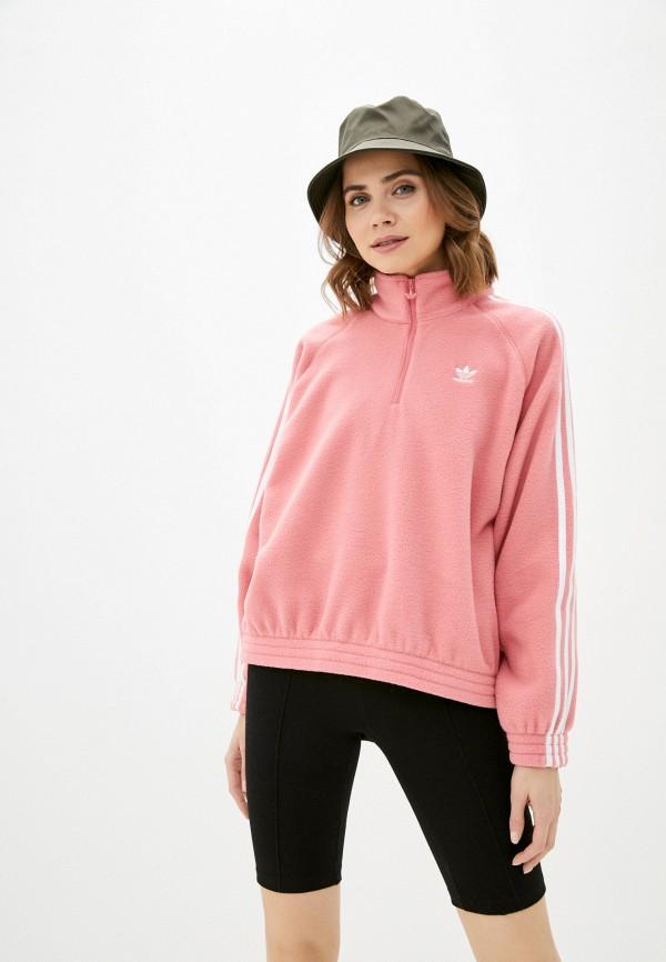женская олимпийка adidas, розовая