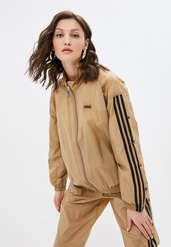 женская спортивные олимпийка adidas, коричневая