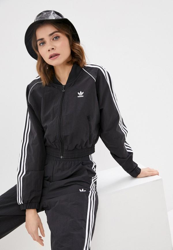 женская спортивные олимпийка adidas, черная