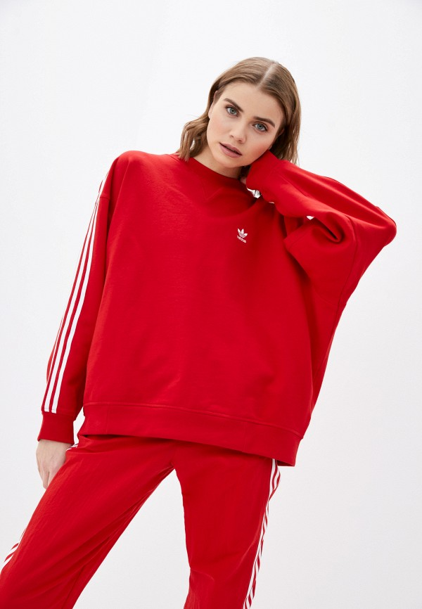 женский свитшот adidas, красный