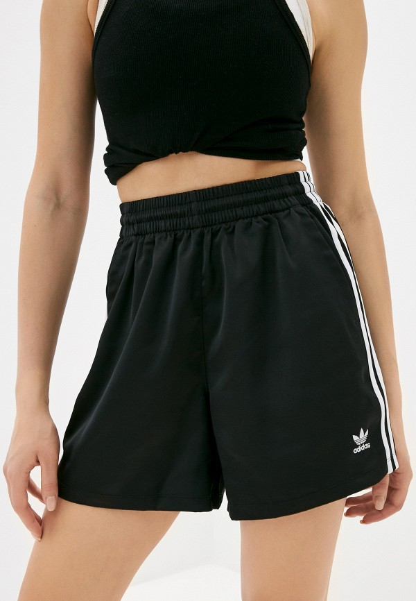 женские спортивные шорты adidas, черные