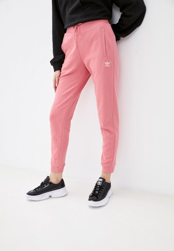 женские спортивные брюки adidas, розовые