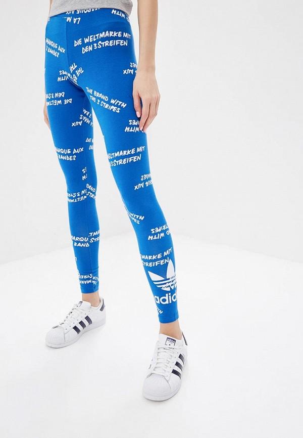 Купить Леггинсы adidas Originals, adidas Originals AD093EWQIN89, синий, Осень-зима 2018/2019