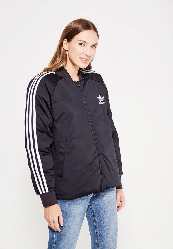 Фото 4 - Куртку утепленная adidas Originals разноцветного цвета
