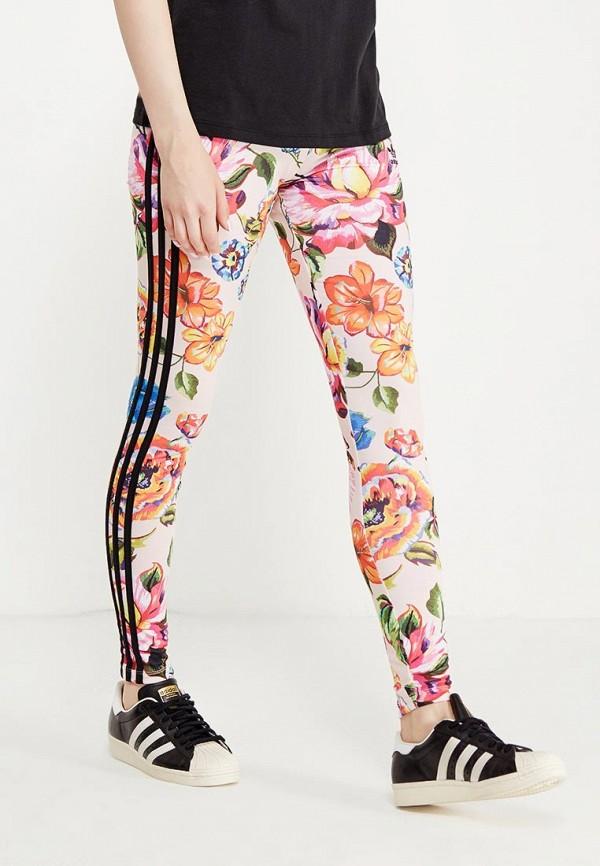 женские спортивные леггинсы adidas, разноцветные