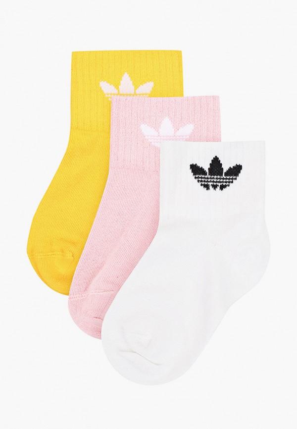 носки adidas для девочки, разноцветные