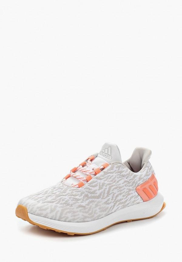 кроссовки adidas для девочки, серые