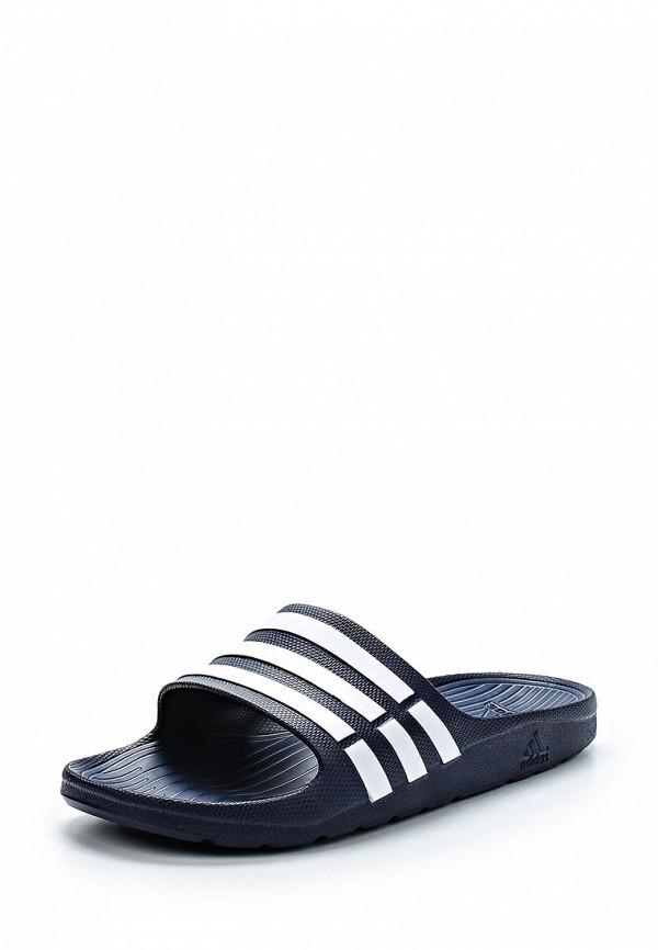 Купить Сланцы adidas, Duramo Slide, AD094AUDYH75, синий, Весна-лето 2015