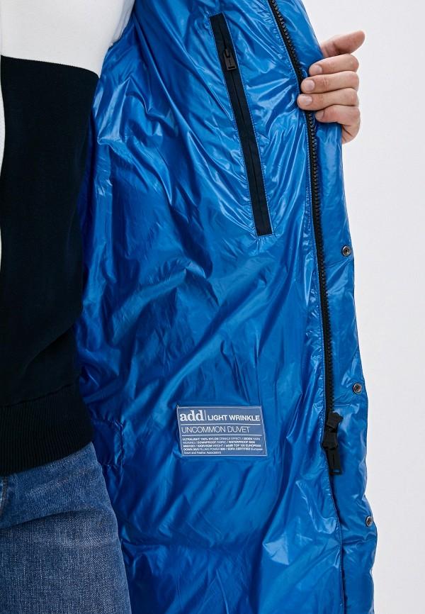 Фото 4 - мужской пуховик Add синего цвета